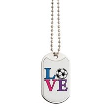 Soccer LOVE Dog Tags