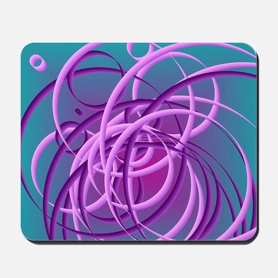 Tangled purple circles Mousepad