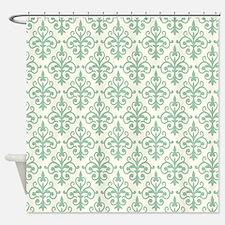 Hemlock & Cream Damask 41 Shower Curtain