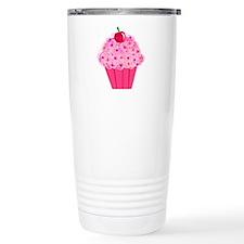 Pink Confetti Cupcake Travel Mug