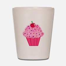 Pink Confetti Cupcake Shot Glass