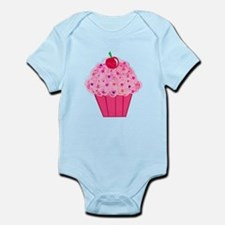 Pink Confetti Cupcake Infant Bodysuit