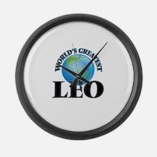 World's Greatest Leo Large Wall Clock