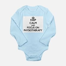 Keep Calm and focus on Physiotherapy Body Suit
