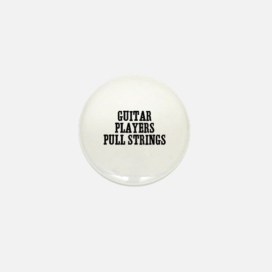 guitar players pull strings Mini Button