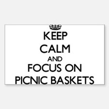 Keep Calm and focus on Picnic Baskets Decal