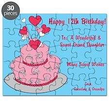Happy 12th Birthday Card Puzzle