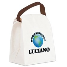 World's Greatest Luciano Canvas Lunch Bag