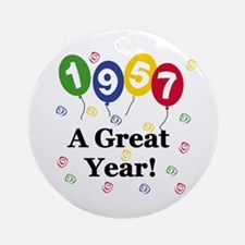 1957 A Great Year Ornament (Round)