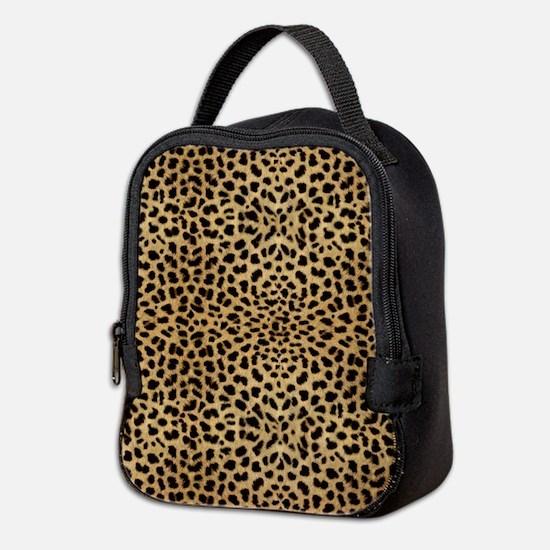 Leopard Skin Pattern Neoprene Lunch Bag