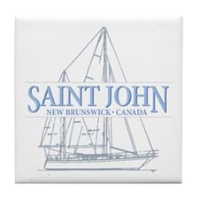 St. John NB - Tile Coaster