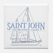 St. John NB - Tile Coaster