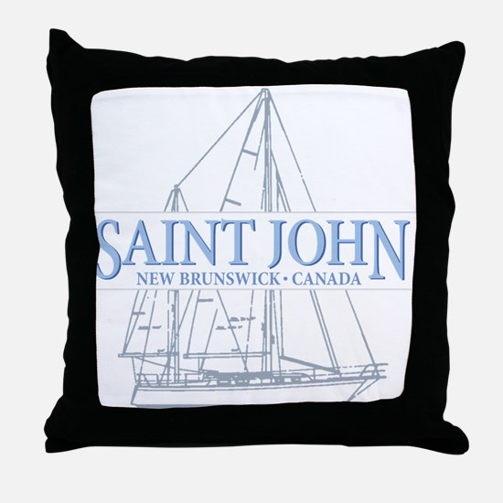 St. John NB - Throw Pillow