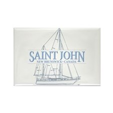 St. John NB - Rectangle Magnet
