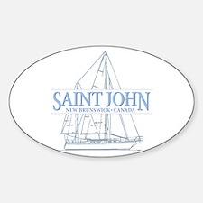 St. John NB - Sticker (Oval)