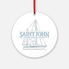 St. John NB - Ornament (Round)