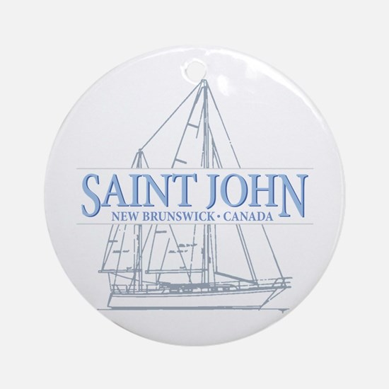St. John NB - Ornament (Round)