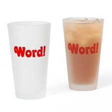 Word! Drinking Glass