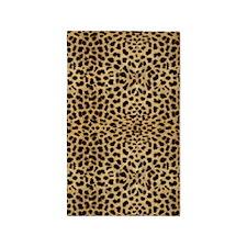 Leopard Skin Pattern 3'x5' Area Rug