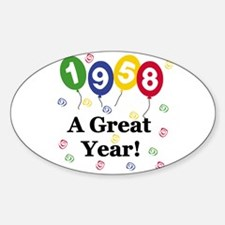 1958 A Great Year Oval Decal