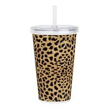 Leopard Skin Pattern Acrylic Double-wall Tumbler