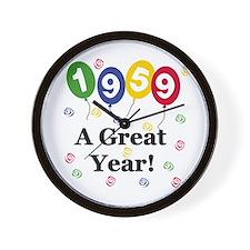 1959 A Great Year Wall Clock