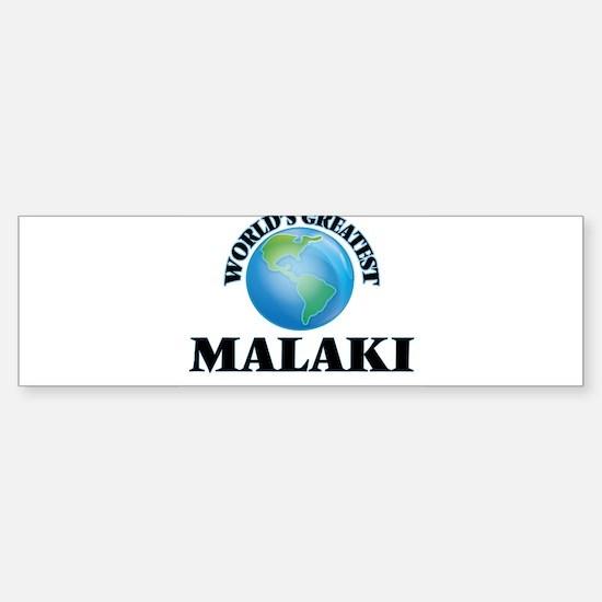 World's Greatest Malaki Bumper Car Car Sticker