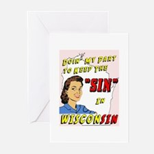 Sin in Wisconsin #2 Greeting Cards (Pk of 10)