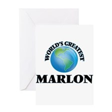 World's Greatest Marlon Greeting Cards