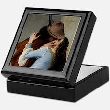 The kiss painted by Francesco Hayez Keepsake Box