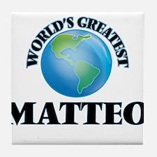 World's Greatest Matteo Tile Coaster