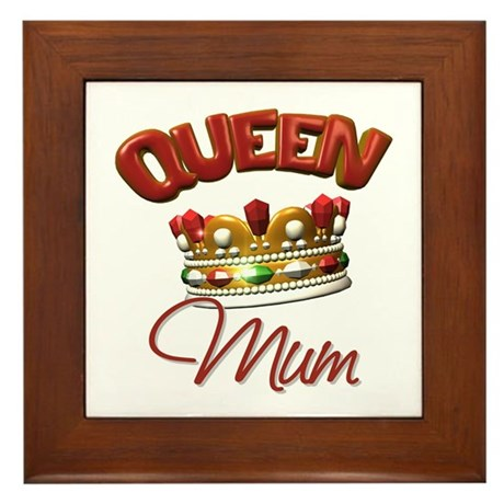 Queen Mum Framed Tile