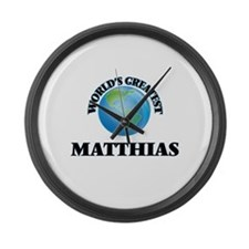 World's Greatest Matthias Large Wall Clock