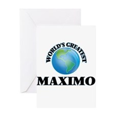 World's Greatest Maximo Greeting Cards