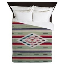 Southwest Serape Weaving Queen Duvet