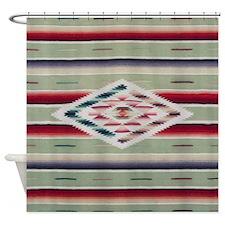 Southwest Serape Weaving Shower Curtain
