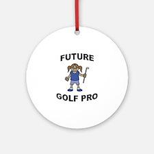 Future Golf Pro (Girl) Ornament (Round)