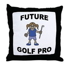 Future Golf Pro (Girl) Throw Pillow