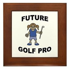 Future Golf Pro (Girl) Framed Tile