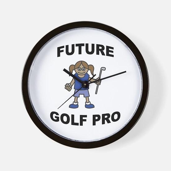 Future Golf Pro (Girl) Wall Clock