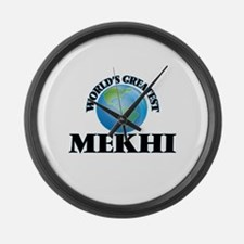 World's Greatest Mekhi Large Wall Clock