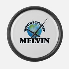 World's Greatest Melvin Large Wall Clock