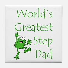 Greatest Stepdad Tile Coaster