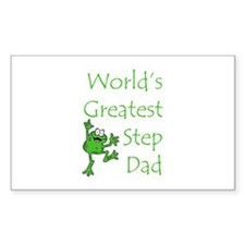 Greatest Stepdad Rectangle Decal