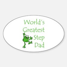 Greatest Stepdad Oval Decal
