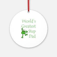 Greatest Stepdad Ornament (Round)