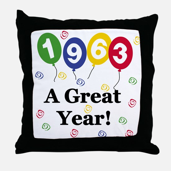 1963 A Great Year Throw Pillow