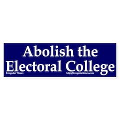 Abolish the Electoral College (sticker)