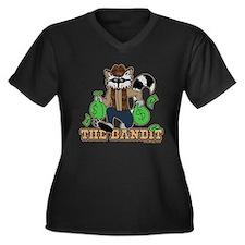 The Bandit Raccoon Design Plus Size T-Shirt