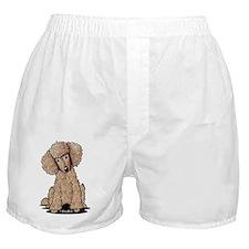 Sweet Chocolate Poodle Boxer Shorts